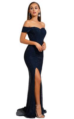 portia & scarlett Black Size 4 Side slit Dress on Queenly