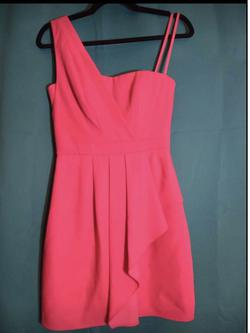 BCBGMAXAZRIA Pink Size 0 Mini One Shoulder Cocktail Dress on Queenly