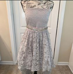Sequin Hearts Nude Size 8 Backless Jewelled Wedding Guest Train Dress on Queenly