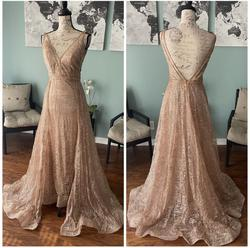 Jovani Pink Size 8 Bridesmaid Overskirt Pageant Train Dress on Queenly