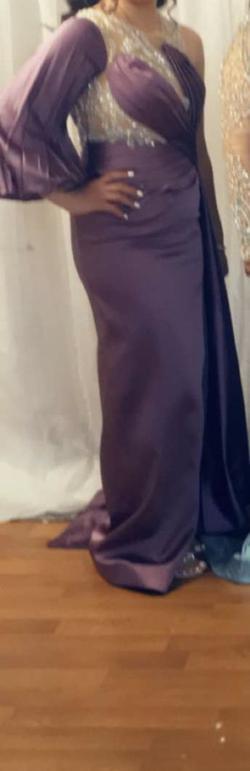 Custom Made Purple Size 6 Mermaid Dress on Queenly