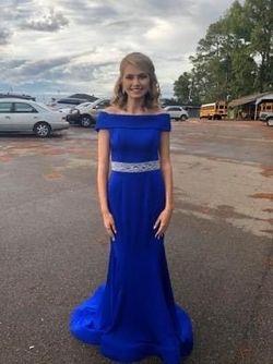Ashley Lauren Blue Size 4 Straight Dress on Queenly