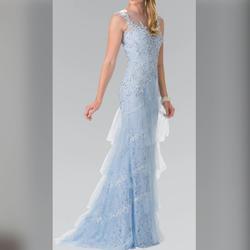 Elizabeth K Light Blue Size 20 Mermaid Dress on Queenly
