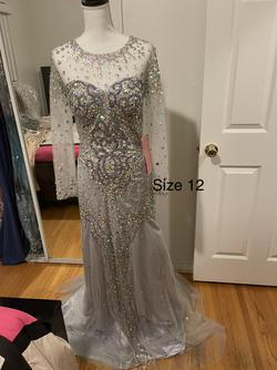 Silver Size 12 Mermaid Dress on Queenly