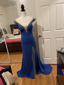 Blue Size 16 Mermaid Dress on Queenly