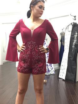 Rachel Allan Red Size 2 Magenta Sorority Formal Cocktail Dress on Queenly