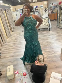 Mori Lee Green Size 22 Pageant Mermaid Dress on Queenly