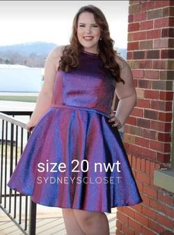Sydneys Closet Purple Size 20 Homecoming Cocktail Dress on Queenly