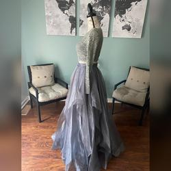 Splash Silver Size 0 Tulle Mermaid Dress on Queenly