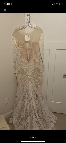 Watters White Size 16 Mermaid Dress on Queenly
