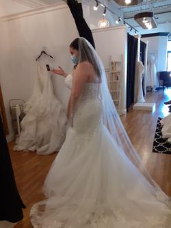 Mori Lee White Size 20 Sweetheart Sheer Tulle Mermaid Dress on Queenly
