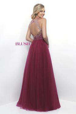 Style 11258 Blush Prom  Blue Size 2 Ball gown on Queenly