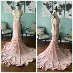 Jovani Pink Size 8 Jersey Mermaid Dress on Queenly