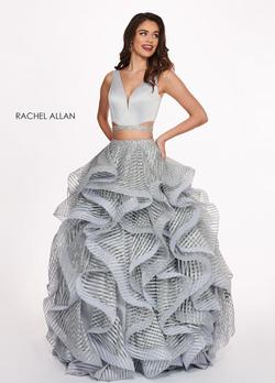 Style 6427 Rachel Allan Silver Size 2 Two Piece Ball gown on Queenly
