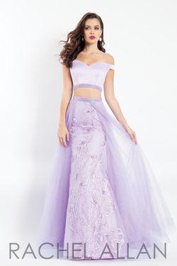 Style 6198 Rachel Allan Purple Size 8 Two Piece A-line Dress on Queenly