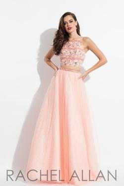 Style 6036 Rachel Allan Pink Size 0 Two Piece Tulle A-line Dress on Queenly