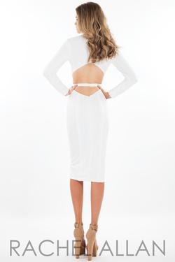 Style L1087 Rachel Allan White Size 4 Sorority Formal Tall Height Cocktail Dress on Queenly