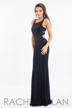 Style 7674 Rachel Allan Black Size 4 Jewelled Sequin Mermaid Dress on Queenly