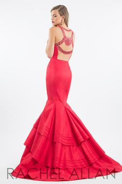 Style 7582 Rachel Allan Red Size 6 Pageant Mermaid Dress on Queenly