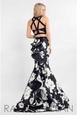 Style 7539 Rachel Allan Black Size 6 Two Piece Mermaid Dress on Queenly