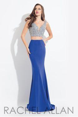 Style 6171 Rachel Allan Bue Size 10 Two Piece Mermaid Dress on Queenly