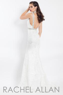 Style 6106 Rachel Allan White Size 2 Embroidery Mermaid Dress on Queenly
