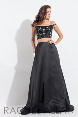 Style 6081 Rachel Allan Black Size 12 Prom Pageant Tall Height Ball gown on Queenly