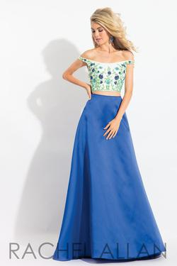 Style 6081 Rachel Allan Blue Size 6 Sorority Formal Tall Height Ball gown on Queenly