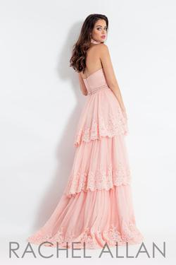 Style 6029 Rachel Allan Light Pink Size 4 Pageant Ruffles Ball gown on Queenly