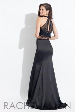 Style 6023 Rachel Allan Black Size 6 Two Piece Mermaid Dress on Queenly