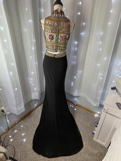 Panoply Black Size 6 Tulle Cocktail Sheer Straight Dress on Queenly