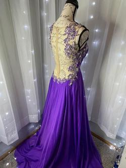 Purple Size 8 A-line Dress on Queenly