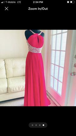 Mac Duggal Pink Size 2 Pageant Sorority Formal Halter Straight Dress on Queenly