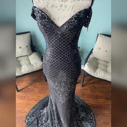 Jovani Black Size 2 Jersey Pageant Mini Mermaid Dress on Queenly