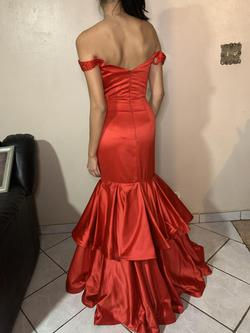 Sherri Hill Red Size 4 Fitted Pageant Mermaid Dress on Queenly