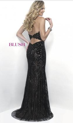 Blush Blue Size 6 Pageant Nude Sequin Straight Dress on Queenly