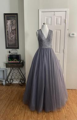 Silver Size 4 Train Dress on Queenly