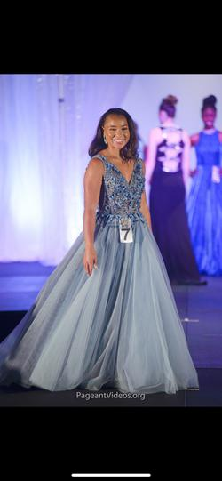 Jovani Blue Size 8 Ball gown on Queenly