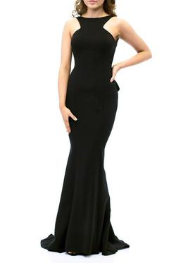Xscape  Black Size 6 Backless Prom Pageant Straight Dress on Queenly