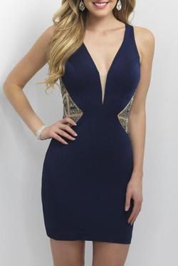 Blush Prom  Blue Size 0 Straight Dress on Queenly
