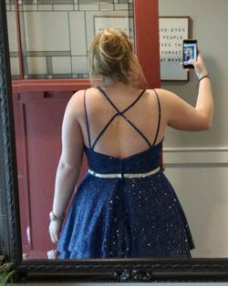 Pixie Blue Size 18 Prom A-line Dress on Queenly