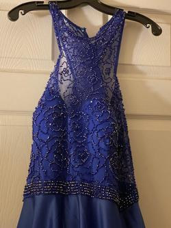 Ellie Wilde Blue Size 20 Polyester Ball gown on Queenly