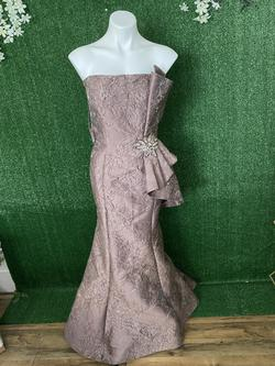 Feriani Couture 18878 Purple Size 14 Fitted Flare Mermaid Dress on Queenly
