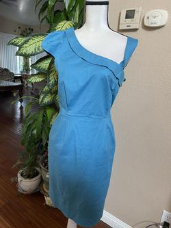 French Connection Blue Size 14 Cap Sleeve One Shoulder Cocktail Dress on Queenly