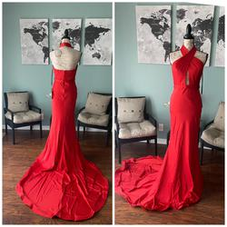 JAdore Red Size 6 Fitted Pageant Mermaid Dress on Queenly