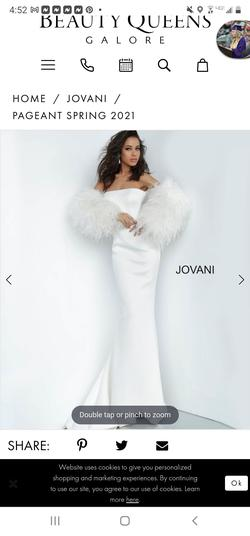 Jovani White Size 2 Prom Strapless Jersey Mermaid Dress on Queenly