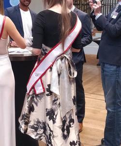 R&M Richards Black Size 4 Corset Belt Cocktail Dress on Queenly