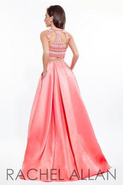 Style 7074RA Rachel Allan Pink Size 10 Pockets Fun Fashion Halter Cocktail Dress on Queenly