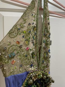 Blue Size 2 Side slit Dress on Queenly