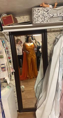 Orange Size 12 Jumpsuit Dress on Queenly